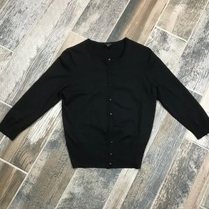 Ann Taylor Women Black Cardigan